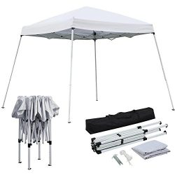 Yaheetech 10×10 Pop-Up Canopy Tent with Carrying Bag White