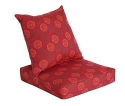[SewKer] Indoor/Outdoor Patio Deep Seat Cushion Set Classic Red Medallion 3604