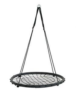 Patio Watcher 40-Inch Net Spinner Web Round Swing Kids Indoor Outdoor Tree Swing Hanging Kit Adj ...