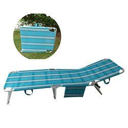 SPORT BEATS Beach Lounge Chair Aluminum Folding 4 Reclining Positions Chaise Lounge,Portable Fol ...