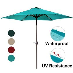 Abba Patio Outdoor Patio Umbrella 9-Feet Aluminum Market Table Umbrella with Push Button Tilt an ...