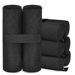Canopy Weights, MaidMAX Canopy Weight Bags Sand Bag with Zippered Top for Instant Legs Pop Up Ca ...