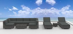 UrbanFurnishing Urban Furnishing.net – IBIZA 10pc Modern Outdoor Wicker Patio Furniture Mo ...