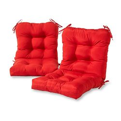 Greendale Home Fashions Outdoor Seat/Back Chair Cushion (set of 2), Salsa