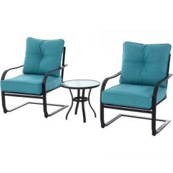 Mainstays Forest Hills 3-Piece Chat Set, Teal