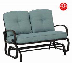 Kozyard Cozy Two Rocking Love Seats Glider Swing Bench/Rocker For Patio, Yard with Soft Cushion  ...