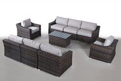 Century Modern Outdoor Marina Collection Patio Furniture Sofa Garden, Sectional Furniture Set Re ...