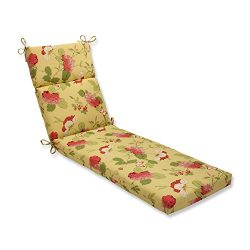 Pillow Perfect Indoor/Outdoor Risa Chaise Lounge Cushion, Lemonade