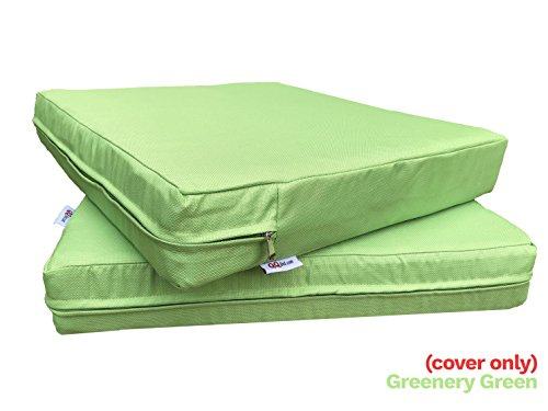 Qqbed 4 Pack Outdoor Patio Chair Washable Cushion Pillow