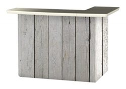 Best of Times Portable Patio Bar Table, White Barn Wood