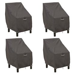 Classic Accessories 55-143-015101-4PK Ravenna Standard Dining Patio Chair Cover (4-Pack)