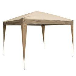 Z ZTDM Patio EZ Pop Up Canopy, 10′ X 10′ Folding Portable Tent Instant Gazebo Waterp ...