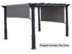 ALISUN Universal 194″ x 88″ Replacement Canopy Top for Pergola Structure (Grey)