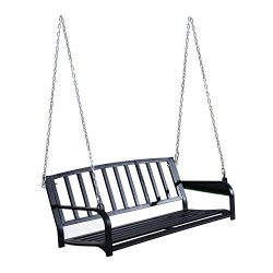 Outsunny 50″ Outdoor Patio Hanging Porch Swing Chair Bench Seat