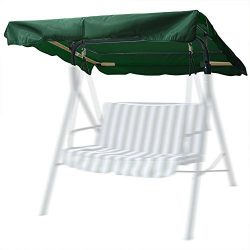Flexzion Swing Canopy Cover Green 77″x43″ Deluxe Polyester Top Replacement UV Block  ...