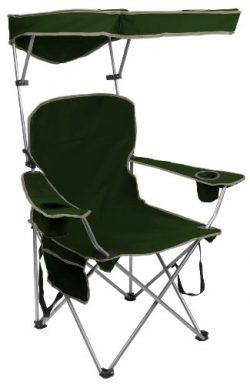 Quik Shade Adjustable Canopy Folding Camp Chair – Forest Green