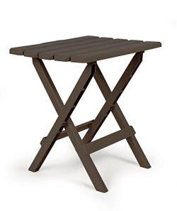 Camco 51886 Large Quick Folding Adirondack Side Table – Mocha