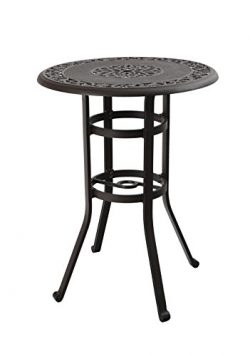 PHI VILLA 32″ Cast Aluminum Counter Height Bistro Round Table for Oudoor Paito