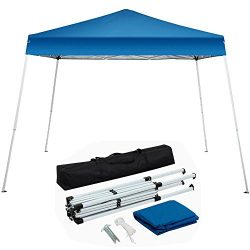 Yaheetech 10'x10′ Outdoor Pop-Up Canopy Tent Portable Shade Instant Folding Canopy w ...