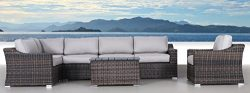Century Modern Outdoor Marina Collection Patio Furniture Sofa Garden, Sectional Furniture Set Re ...