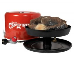 "Camco 58035 ""Big Red Campfire"" 13.25-Inch Portable Propane Outdoor Camp Fire, Approved For RV Ca ..."