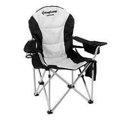 KingCamp Folding Quad Chair Lumbar Back Support Light Weight Portable Deluxe Padded Oversize wit ...