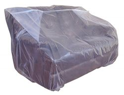 Furniture Cover Plastic Bag for Moving Protection and Long Term Storage (Loveseat)