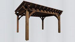 SHADESCAPE – 14×18 Pergola – 8,000 Series Heavy Timber Kit – 8×8 Pos ...