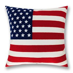 Independence Day Exquisite Chain Embroidery Decorative Throw Pillow Cover Cushion Covers Cotton  ...