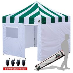 Eurmax New Basic 10×10 Ez Pop Up Canopy Outdoor Canopy Instant Tent with 4 zipper Sidewalls ...