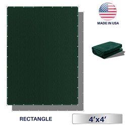 Windscreen4less Straight Edge Sun Shade Sail,Rectangle Outdoor Shade Cloth Pergola Cover UV Bloc ...