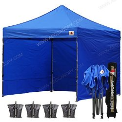 ABCCANOPY (23+color 8×8 Pop up Canopy Instant Outdoor Party Tent Shade Gazebo+4 Side Walls ...