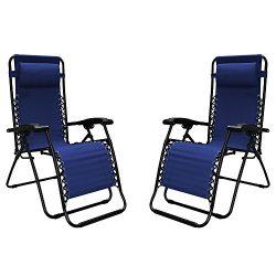 Caravan Sports Infinity Zero Gravity Chair – 2 Pack, Blue