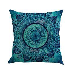 KMG Kimloog Hot Sale!Mandala Pillow Case Bohemia Design Indoor Outdoor Decorative Square Cushion ...