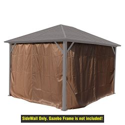 Gazebo Privacy Sidewall for Caesar 10'x12′ Hardtop Aluminum Permanent Gazebo