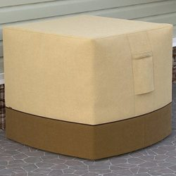 Dura Covers Fade Proof Air Conditioner or LP Propane Gas Outdoor Fire Bowl Fire Pit Table Cover, ...