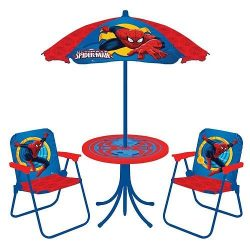 Spiderman New Spring 2018 Spider-Man Classic Patio Set: Umbrella, Table & Two Chairs Play