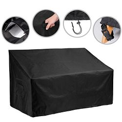 53-inch Outdoor Bench Cover Water Resistant Patio Bench Cover Durable Patio Furniture Sofa Loves ...