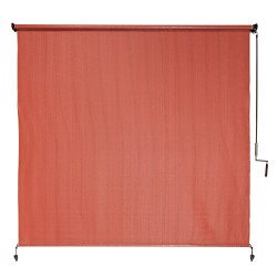 Coolaroo Outdoor Cordless Roller Shade 6ft by 6ft Terracotta
