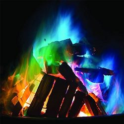 Colorful Mystical Fire Magic Tricks Coloured Flames Bonfire Sachets Fireplace Pit Patio Color To ...