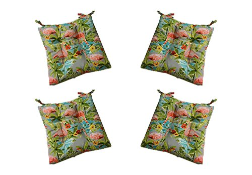 Set Of 4 Indoor Outdoor Waverly Elegant Tropical