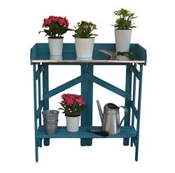 VYTAL Folding Potting Bench/Event Table (Teal)