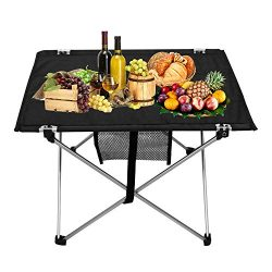 Kany Portable Lightweight Folding Table for Hiking Picnic Camping, Compact Table with Carrying Bag