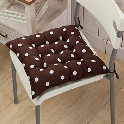 Tiean Durable Polka Dot Chair Cushion Garden Dining Home Office Seat Soft Pad 9 Colors (J)