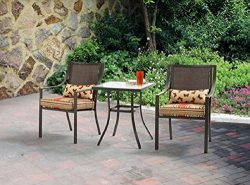 Alexandra Square 3-Piece Outdoor Bistro Set Red Stripe with Butterflies Seats 2 Outdoors Relax G ...