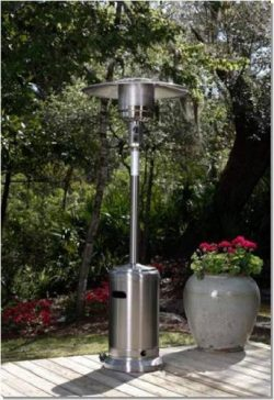 Golden Flame 46,000 BTU [XL-Series] Stainless Steel Commercial Patio Heater with Wheels (Propane)