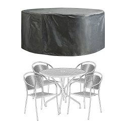 COVERKING CLUB 60″D x 28″H Patio Furniture Covers Outdoor Table Chair Set Covers Wat ...