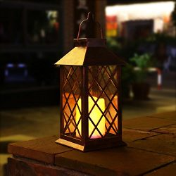 TAKEME Solar Lantern, Outdoor Garden Lights,Metal Waterproof LED Hanging Lights Decorative Lamp  ...