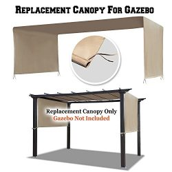 BenefitUSA G260-CV Universal Replacement Canopy Top Cover for Pergola Structure (18′ L x 8 ...