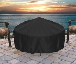Sunnydaze Round Durable Black Fire Pit Cover, 36 Inch